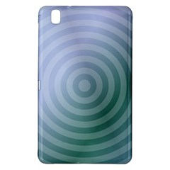 Teal Background Concentric Samsung Galaxy Tab Pro 8 4 Hardshell Case