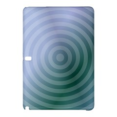 Teal Background Concentric Samsung Galaxy Tab Pro 12 2 Hardshell Case