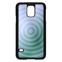 Teal Background Concentric Samsung Galaxy S5 Case (black)