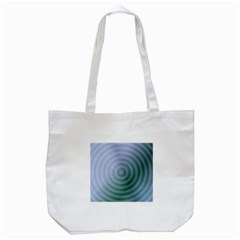 Teal Background Concentric Tote Bag (white)