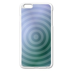 Teal Background Concentric Apple Iphone 6 Plus/6s Plus Enamel White Case