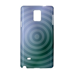 Teal Background Concentric Samsung Galaxy Note 4 Hardshell Case