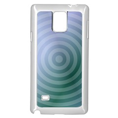 Teal Background Concentric Samsung Galaxy Note 4 Case (white)