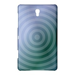 Teal Background Concentric Samsung Galaxy Tab S (8 4 ) Hardshell Case