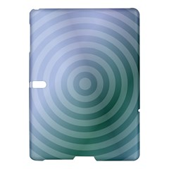 Teal Background Concentric Samsung Galaxy Tab S (10 5 ) Hardshell Case