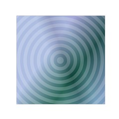 Teal Background Concentric Small Satin Scarf (square)