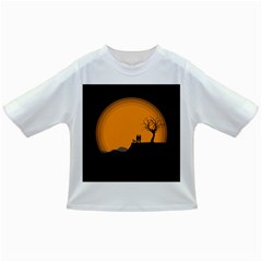 Couple Dog View Clouds Tree Cliff Infant/toddler T Shirts