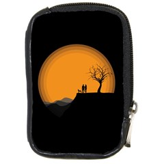 Couple Dog View Clouds Tree Cliff Compact Camera Cases