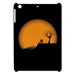Couple Dog View Clouds Tree Cliff Apple Ipad Mini Hardshell Case