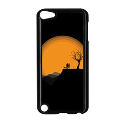 Couple Dog View Clouds Tree Cliff Apple Ipod Touch 5 Case (black)