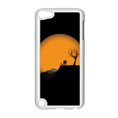 Couple Dog View Clouds Tree Cliff Apple Ipod Touch 5 Case (white)
