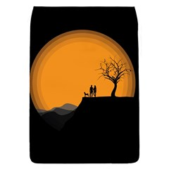Couple Dog View Clouds Tree Cliff Flap Covers (s)