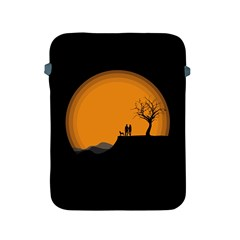 Couple Dog View Clouds Tree Cliff Apple Ipad 2/3/4 Protective Soft Cases