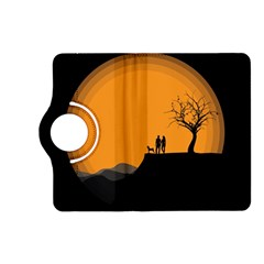 Couple Dog View Clouds Tree Cliff Kindle Fire Hd (2013) Flip 360 Case