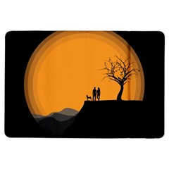 Couple Dog View Clouds Tree Cliff Ipad Air Flip