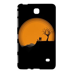 Couple Dog View Clouds Tree Cliff Samsung Galaxy Tab 4 (8 ) Hardshell Case