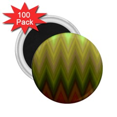 Zig Zag Chevron Classic Pattern 2 25  Magnets (100 Pack)
