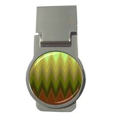 Zig Zag Chevron Classic Pattern Money Clips (round)