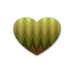 Zig Zag Chevron Classic Pattern Rubber Coaster (heart)