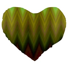 Zig Zag Chevron Classic Pattern Large 19  Premium Heart Shape Cushions
