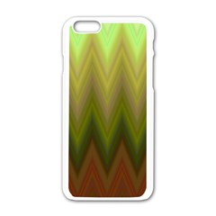 Zig Zag Chevron Classic Pattern Apple Iphone 6/6s White Enamel Case