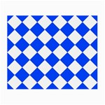 Blue White Diamonds Seamless Small Glasses Cloth (2-Side) Front