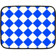 Blue White Diamonds Seamless Double Sided Fleece Blanket (mini)