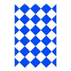 Blue White Diamonds Seamless Shower Curtain 48  X 72  (small)