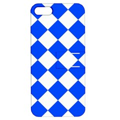 Blue White Diamonds Seamless Apple Iphone 5 Hardshell Case With Stand