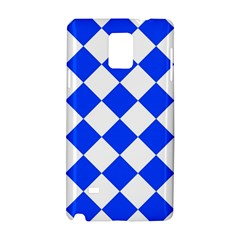 Blue White Diamonds Seamless Samsung Galaxy Note 4 Hardshell Case