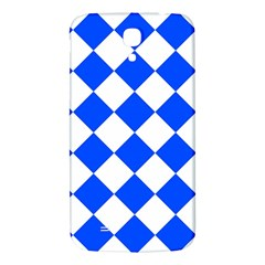 Blue White Diamonds Seamless Samsung Galaxy Mega I9200 Hardshell Back Case