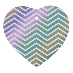 Zigzag Line Pattern Zig Zag Ornament (heart)
