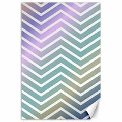 Zigzag Line Pattern Zig Zag Canvas 24  X 36