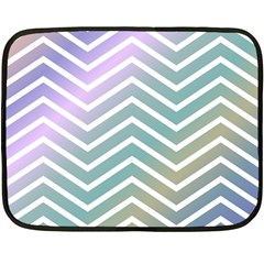 Zigzag Line Pattern Zig Zag Double Sided Fleece Blanket (mini)