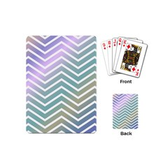 Zigzag Line Pattern Zig Zag Playing Cards (mini)