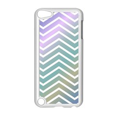 Zigzag Line Pattern Zig Zag Apple Ipod Touch 5 Case (white)