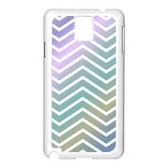 Zigzag Line Pattern Zig Zag Samsung Galaxy Note 3 N9005 Case (white)