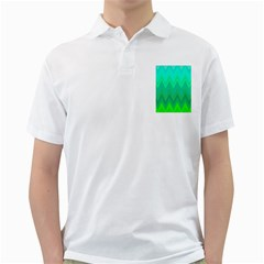 Green Zig Zag Chevron Classic Pattern Golf Shirts