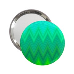 Green Zig Zag Chevron Classic Pattern 2 25  Handbag Mirrors