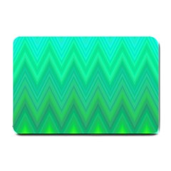 Green Zig Zag Chevron Classic Pattern Small Doormat