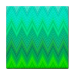 Green Zig Zag Chevron Classic Pattern Face Towel