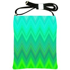 Green Zig Zag Chevron Classic Pattern Shoulder Sling Bags