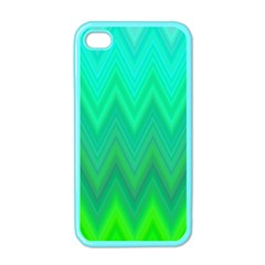Green Zig Zag Chevron Classic Pattern Apple Iphone 4 Case (color)