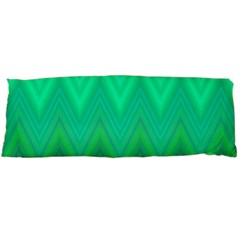 Green Zig Zag Chevron Classic Pattern Body Pillow Case Dakimakura (two Sides)