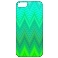 Green Zig Zag Chevron Classic Pattern Apple Iphone 5 Classic Hardshell Case