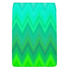 Green Zig Zag Chevron Classic Pattern Flap Covers (s)