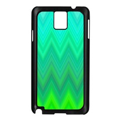 Green Zig Zag Chevron Classic Pattern Samsung Galaxy Note 3 N9005 Case (black)