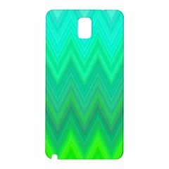 Green Zig Zag Chevron Classic Pattern Samsung Galaxy Note 3 N9005 Hardshell Back Case