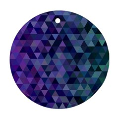 Triangle Tile Mosaic Pattern Ornament (round)