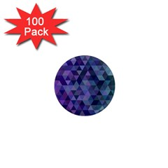 Triangle Tile Mosaic Pattern 1  Mini Magnets (100 Pack)